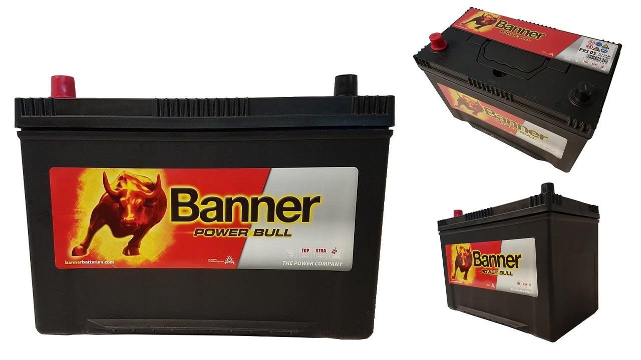 akumulator banner power bull 12v 95ah 740a lewy jap. Black Bedroom Furniture Sets. Home Design Ideas